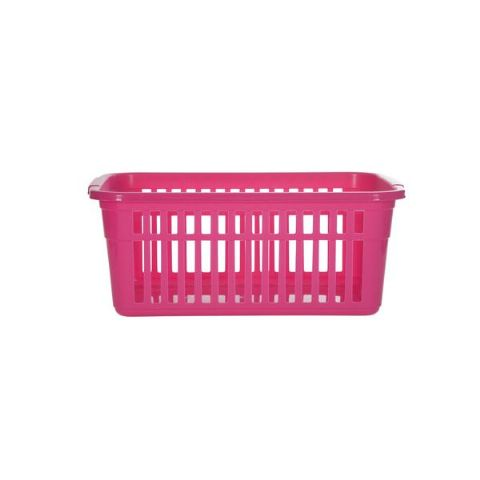 Hot Pink Small to Large Plastic Shelf Tidy Storage Baskets - 4 Sizes